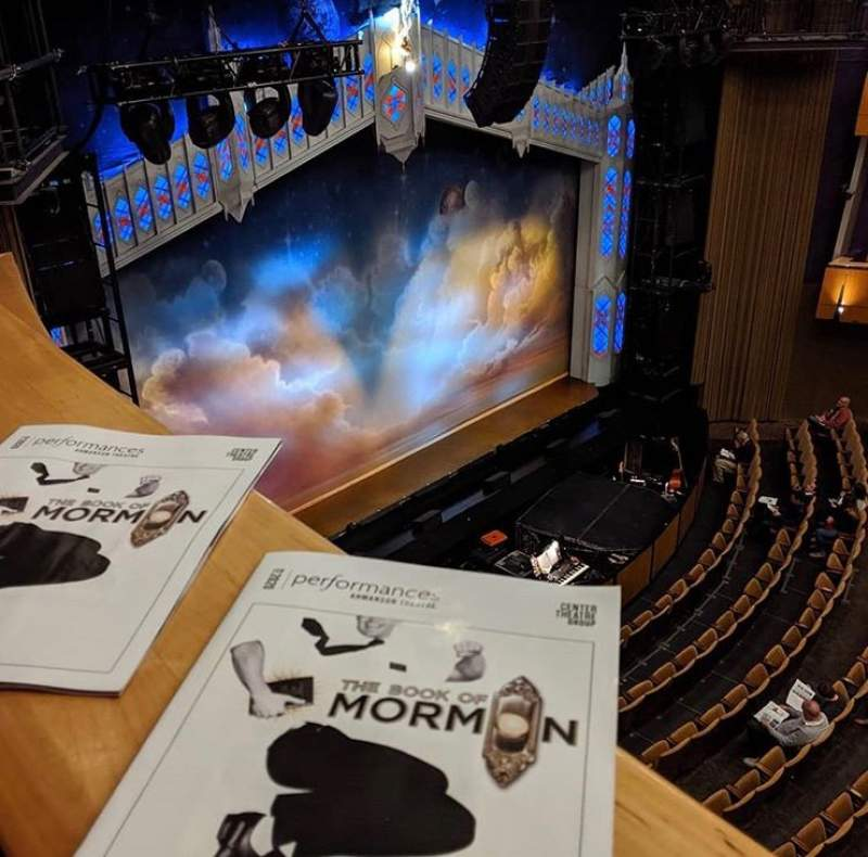 Seating view for Ahmanson Theatre Section Balcony Row BXE Seat 204