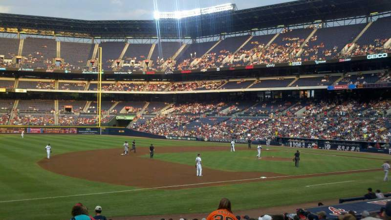 Seating view for Turner Field Section 120 Row 20 Seat 101