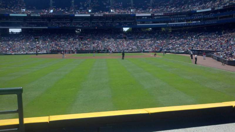 Seating view for Turner Field Section 136R Row 14 Seat 1