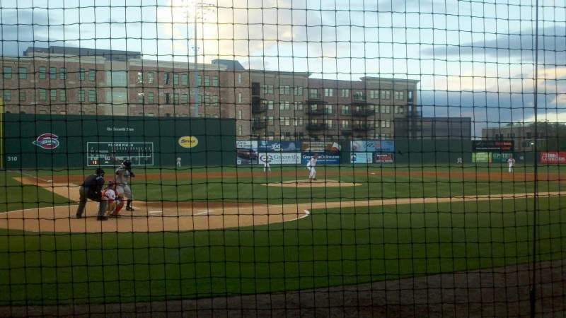 Seating view for Fluor Field Section 109 Row D Seat 3