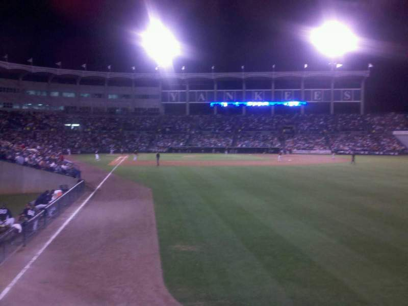 Seating view for George M. Steinbrenner Field Section Deck Row 2 Seat 3