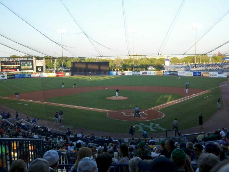 Seating view for George M. Steinbrenner Field Section 212 Row F Seat 7