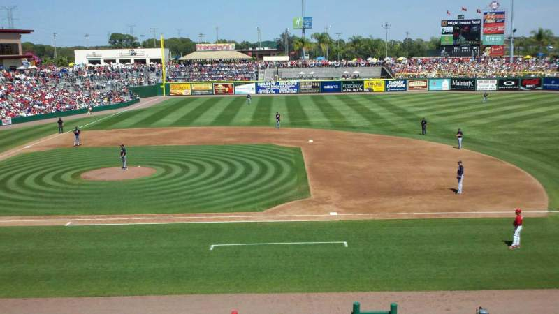Seating view for BayCare Ballpark Section 203 Row 1 Seat 10