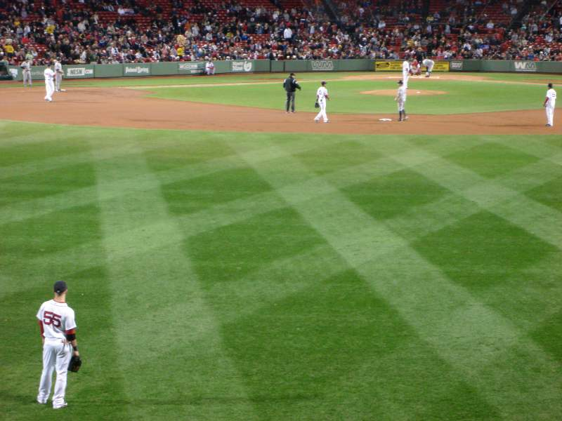 Seating view for Fenway Park Section Bleacher 34
