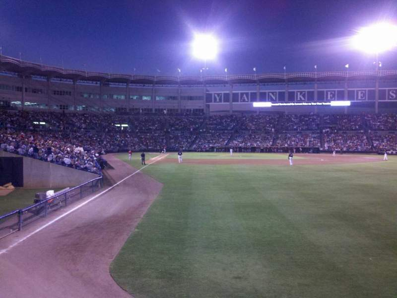 Seating view for George M. Steinbrenner Field Section Deck Row 2 Seat 8