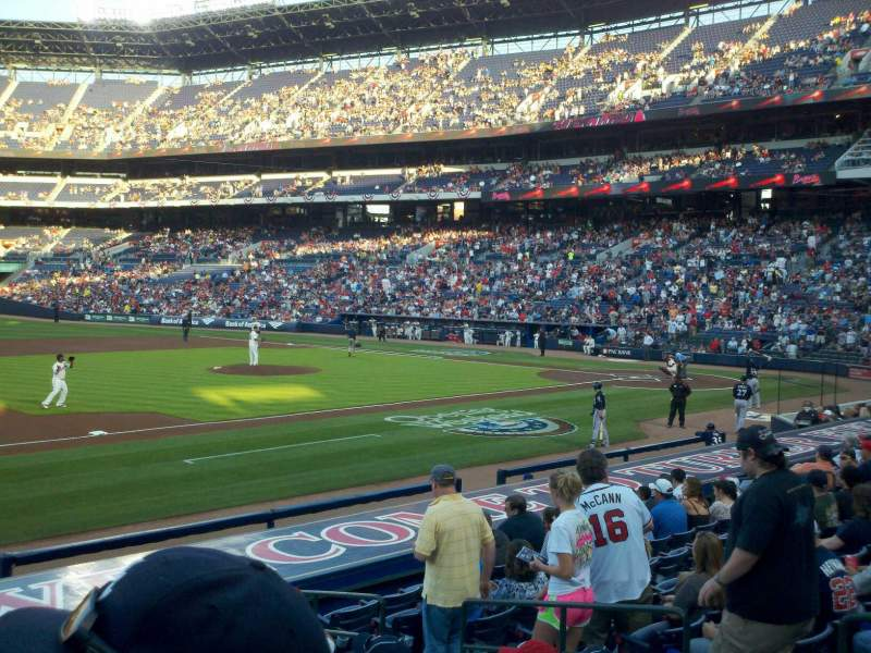 Seating view for Turner Field Section 118 Row 15 Seat 6