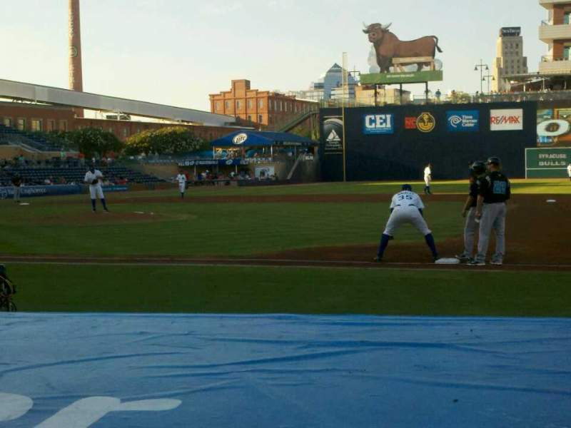 Seating view for Durham Bulls Athletic Park Section 112 Row D Seat 12