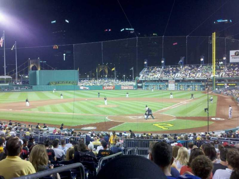 Seating view for PNC Park Section 117 Row P Seat 28
