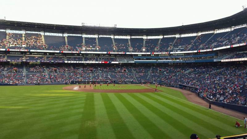 Seating view for Turner Field Section 238L Row 4 Seat 106