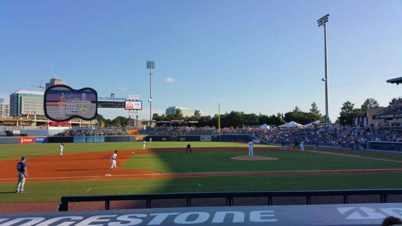 Seating view for First Tennessee Park Section 109 Row L Seat 19