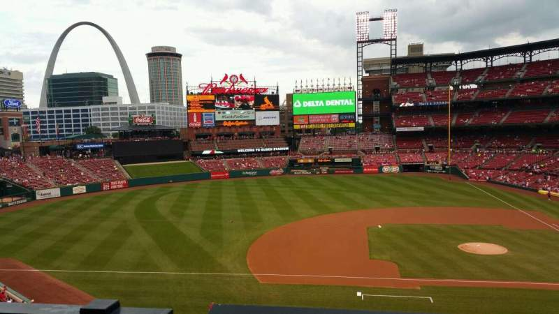 Seating view for Busch Stadium Section 257 Row 1 Seat 7