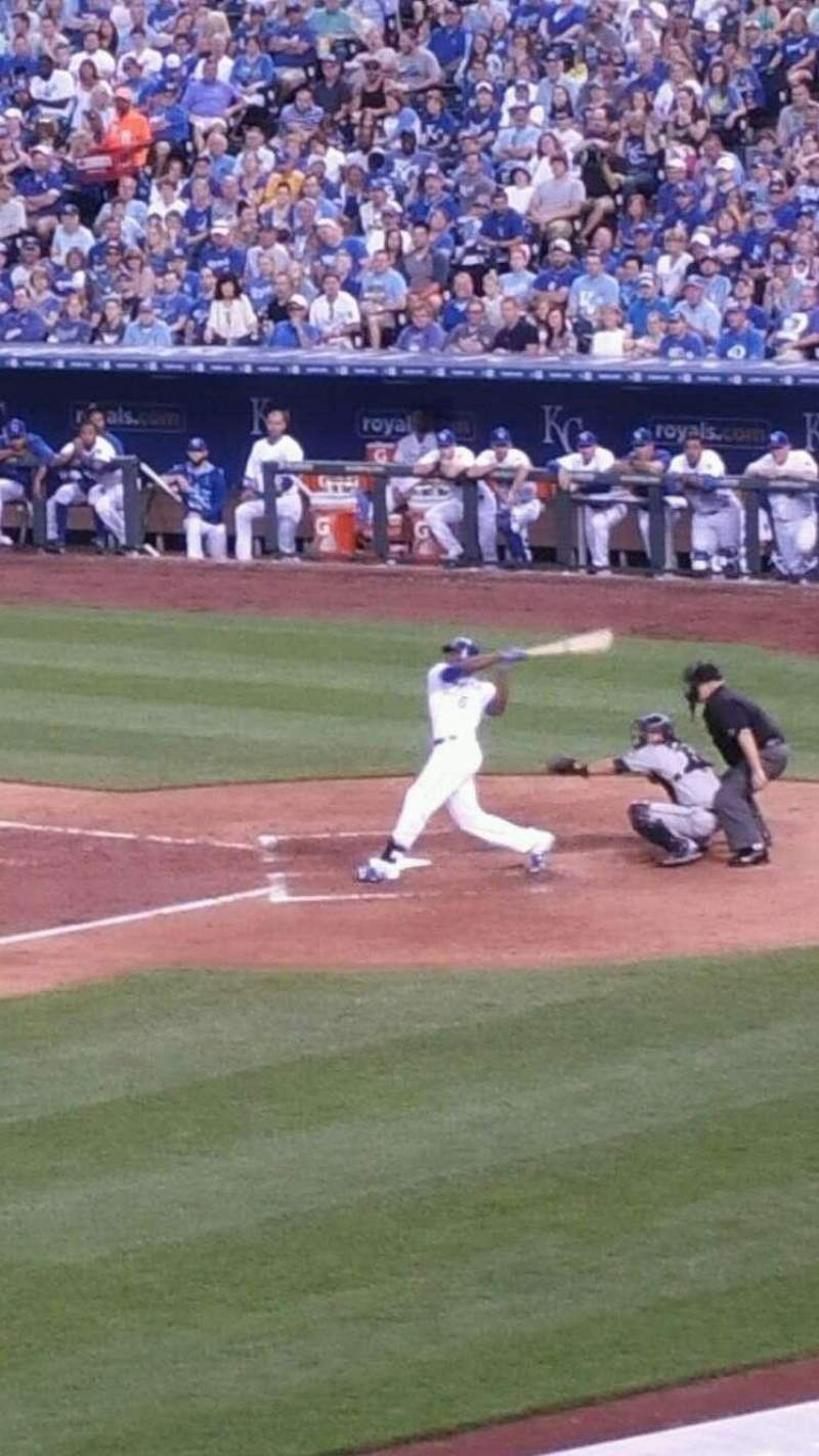 Seating view for Kauffman Stadium Section 217 Row Ll Seat 7