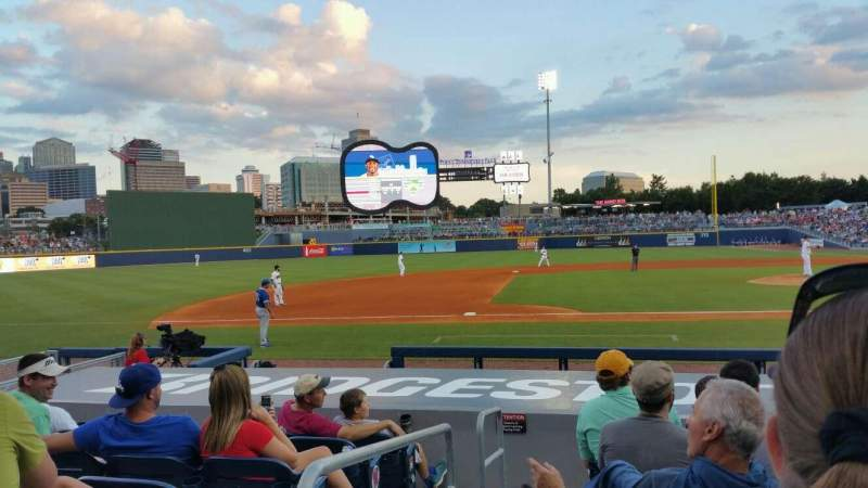 Seating view for First Tennessee Park