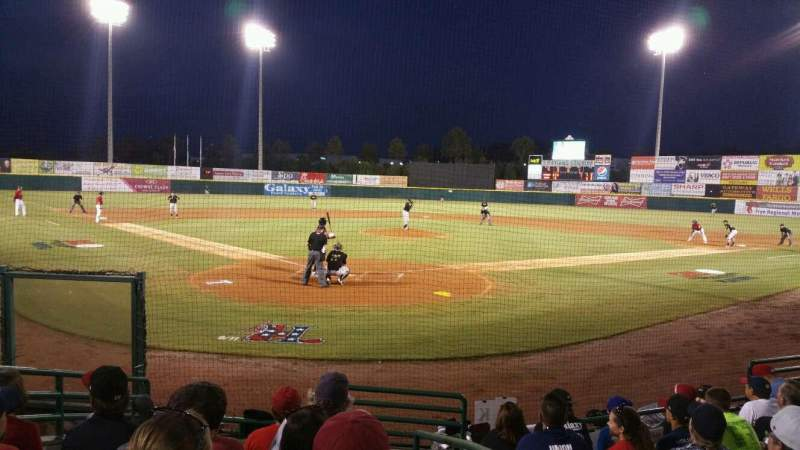 Seating view for L.P. Frans Stadium Section 109 Row 7 Seat 1