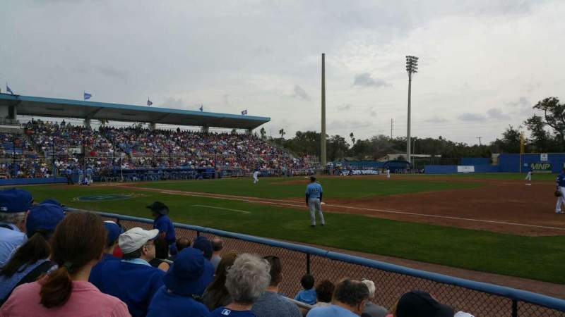 Seating view for Florida Auto Exchange Stadium Section 101 Row 4 Seat 5