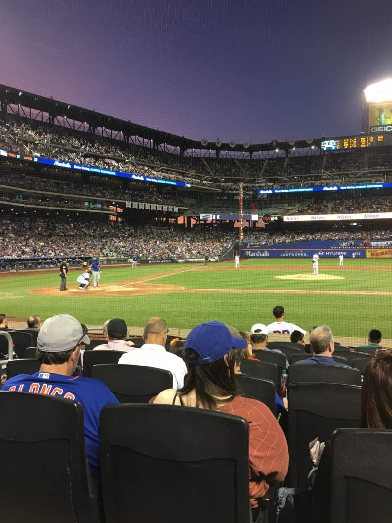 Seating view for Citi Field Section 11 Row 8 Seat 5
