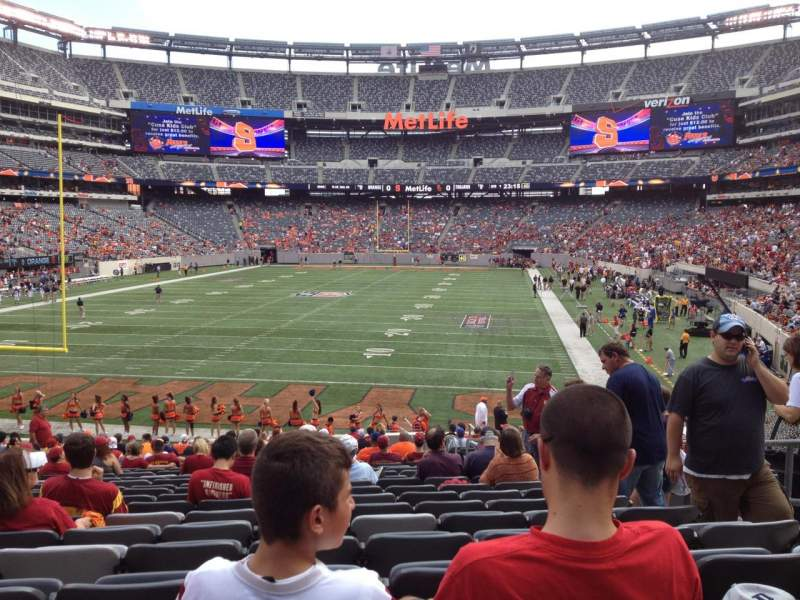 Seating view for MetLife Stadium Section 149 Row 25 Seat 5
