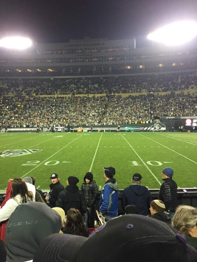 Folsom Field, section: 108, row: 14, seat: 8