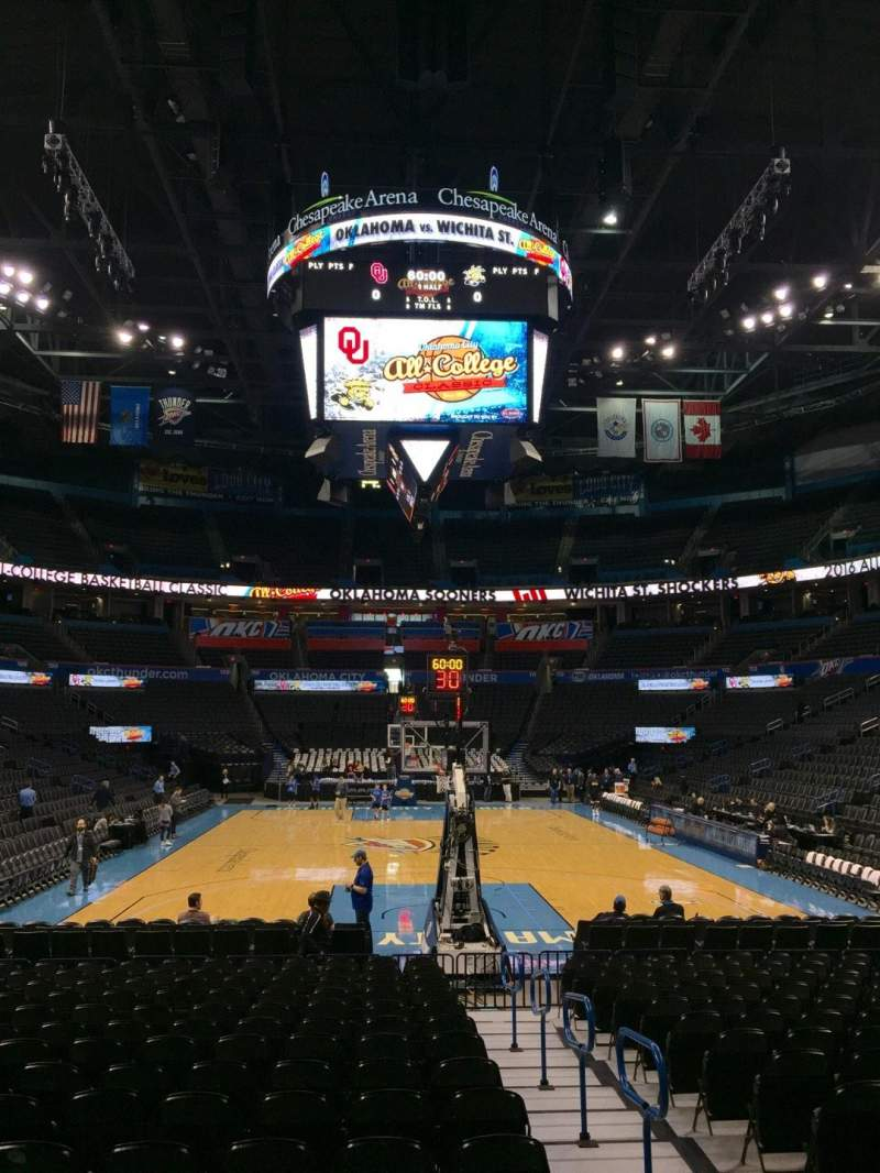 Seating view for Chesapeake Energy Arena Section 101 Row RR Seat 2