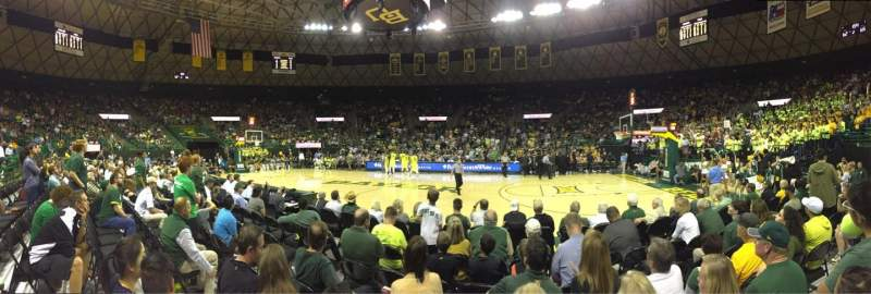 Ferrell Center, section: 123, row: F