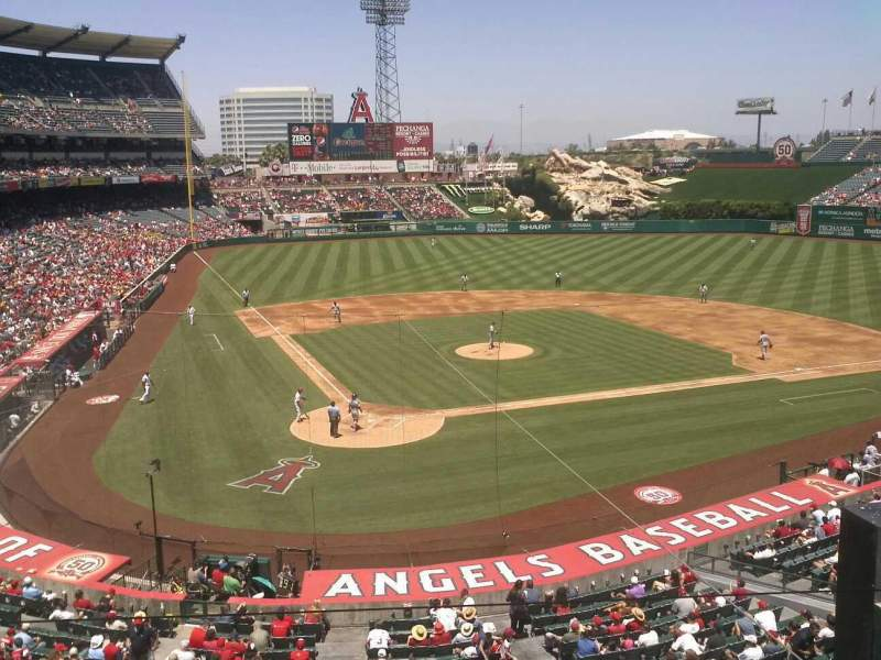 Seating view for Angel Stadium Section autry Row box Seat 12