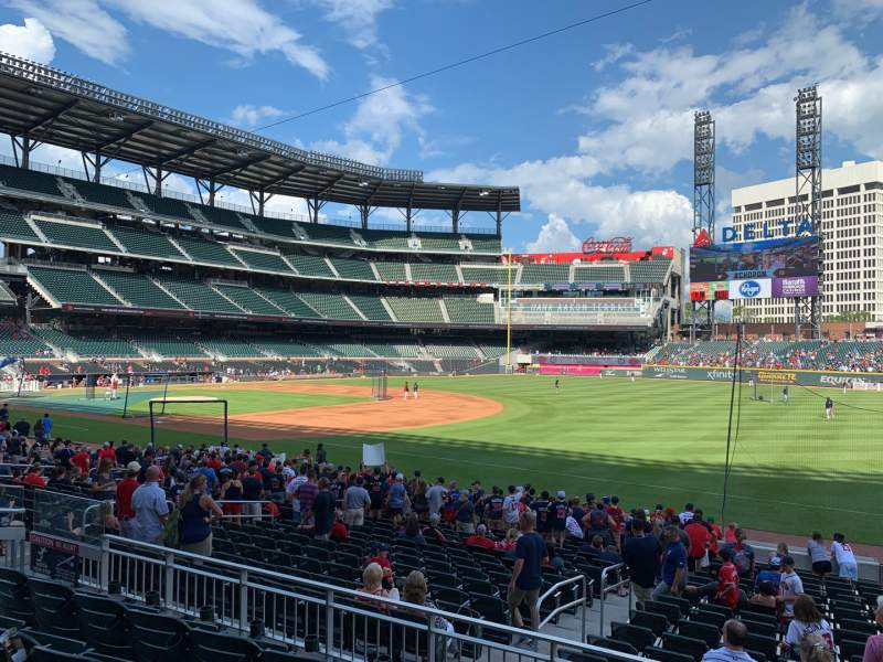 Seating view for SunTrust Park Section 113 Row 5 Seat 10