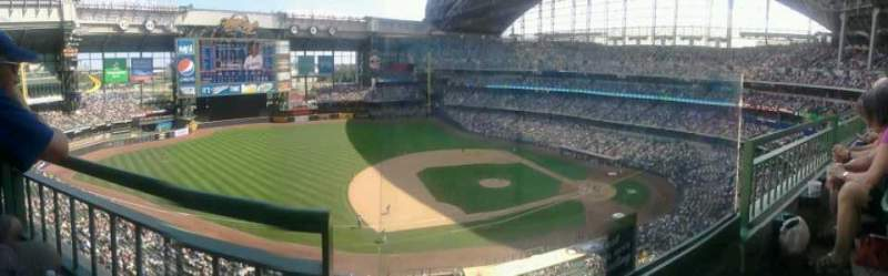 Seating view for Miller Park Section 431 Row 1 Seat 1