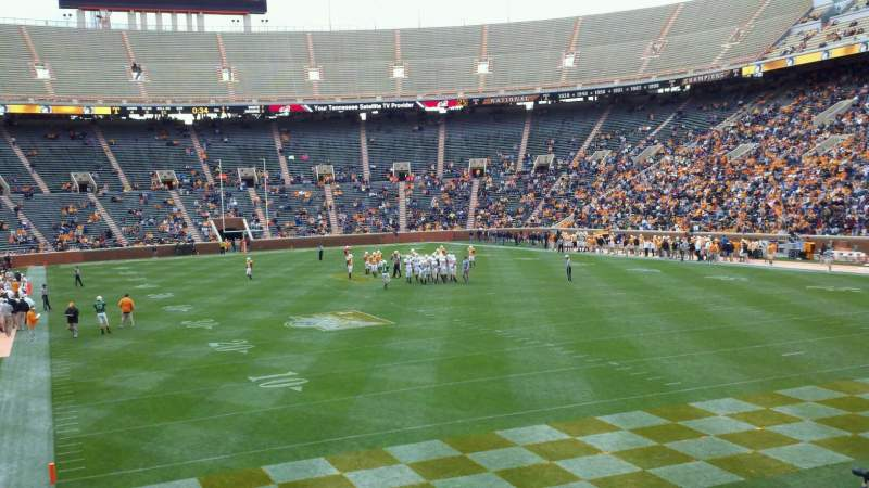 Seating view for Neyland Stadium Section Z11