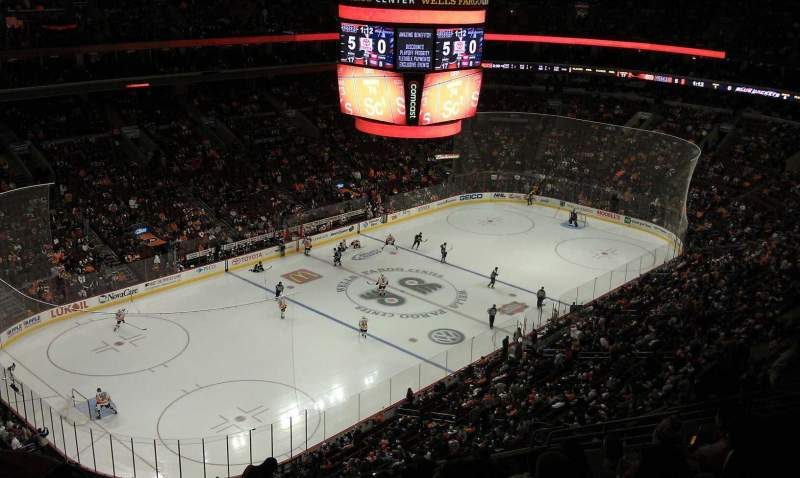 Seating view for Wells Fargo Center Section 210 Row 14 Seat 7