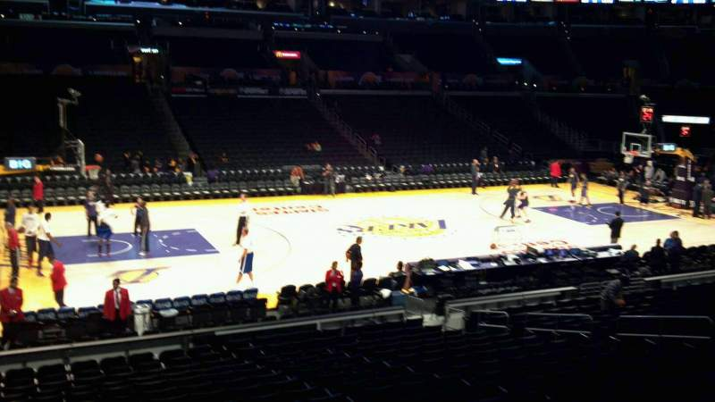 Seating view for Staples Center Section 102 Row 20 Seat 17
