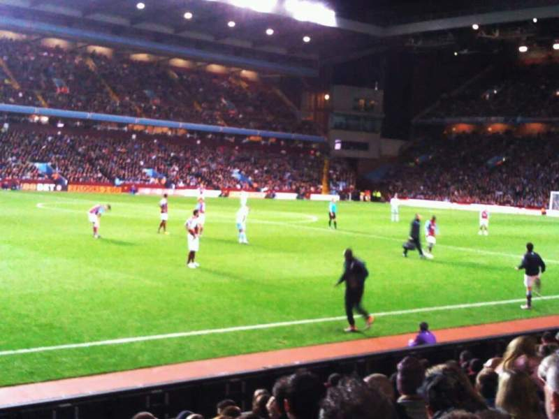 Seating view for Villa Park Section trinity road lower c7 Row 11 Seat 209