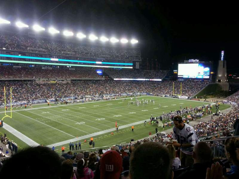 Seating view for Gillette Stadium Section 215 Row 14 Seat 12