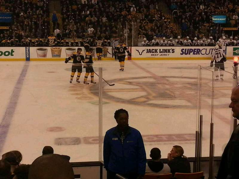 Seating view for TD Garden Section Loge 13 Row 10 Seat 1