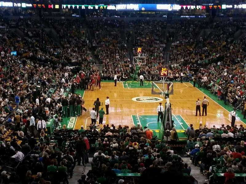 Seating view for TD Garden Section AT&T Sports Deck Row B Seat 34