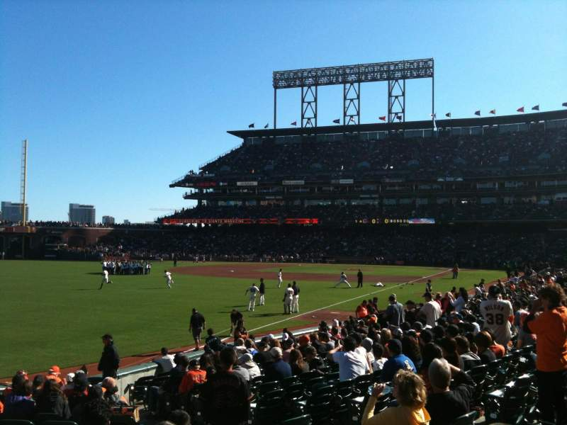 Seating view for AT&T Park Section LB134 Row 19 Seat 5