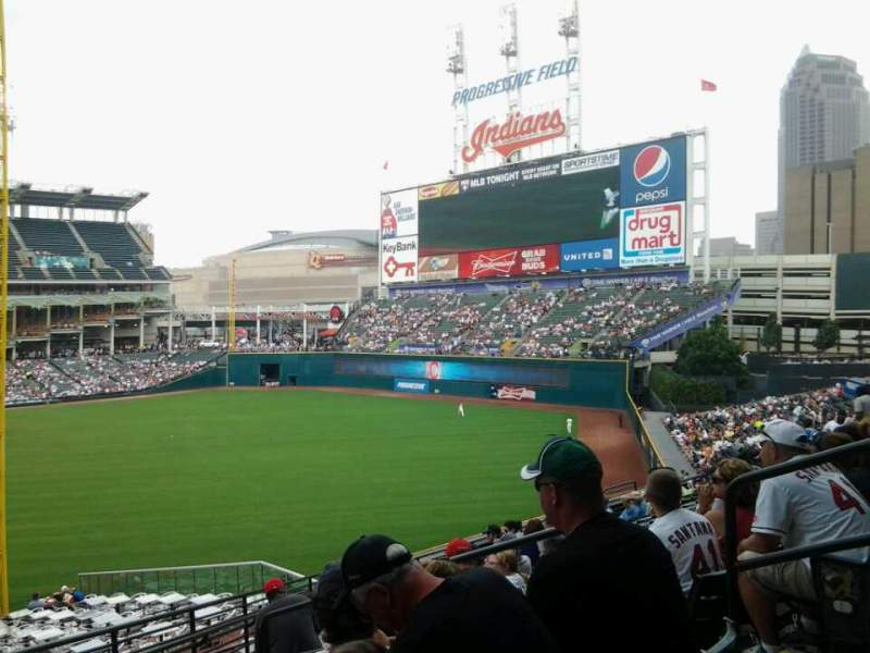 Seating view for Progressive Field Section 317 Row N Seat 6