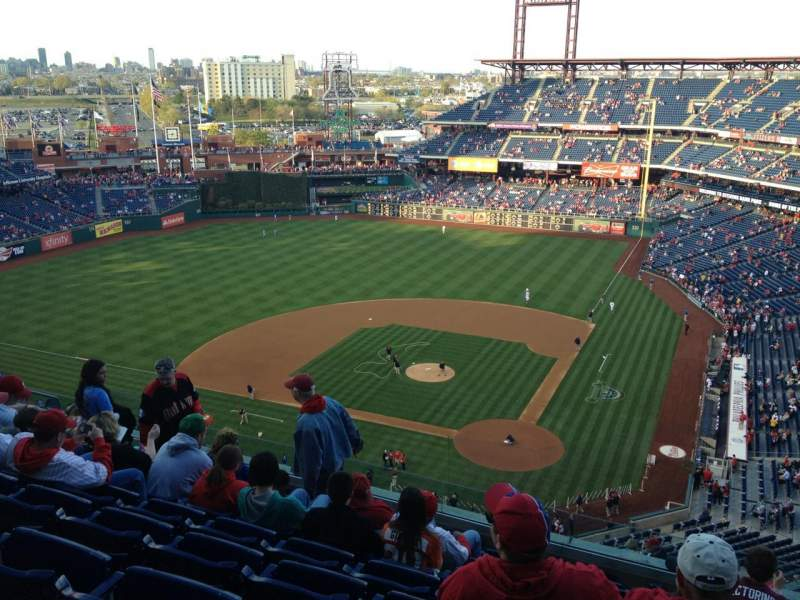 Seating view for Citizens Bank Park Section 423 Row 9 Seat 9