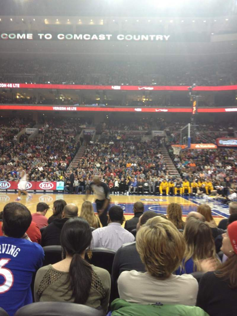 Seating view for Wells Fargo Center Section 115 Row 2 Seat 10