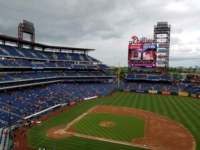 Seating view for Citizens Bank Park Section 315 Row 1 Seat 3