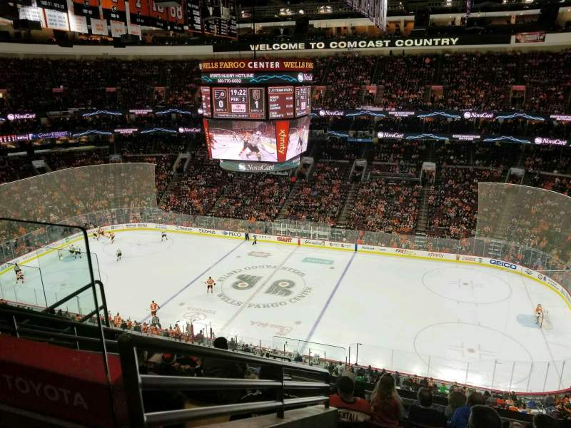 Seating view for Wells Fargo Center Section 203 Row 8 Seat 3