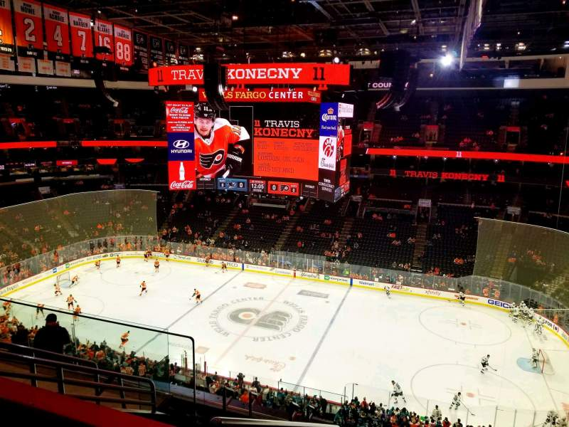 Seating view for Wells Fargo Center Section 208 Row 8 Seat 3