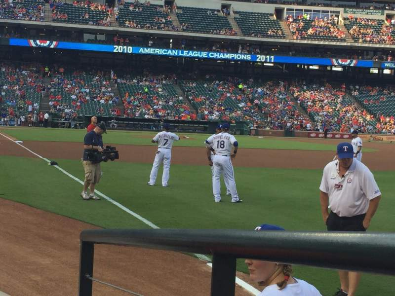 Seating view for Globe Life Park in Arlington Section 39 Row 3 Seat 5