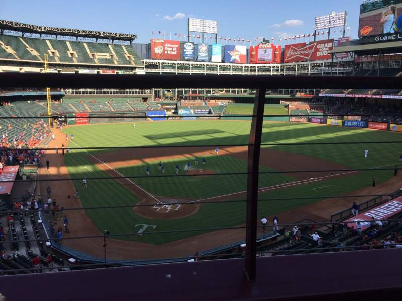 Seating view for Globe Life Park in Arlington Section 228 Row 1 Seat 6