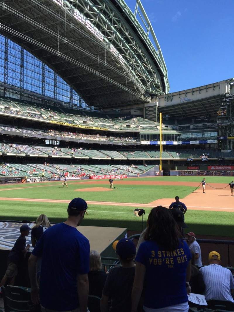 Seating view for Miller Park Section 112 Row 9 Seat 5