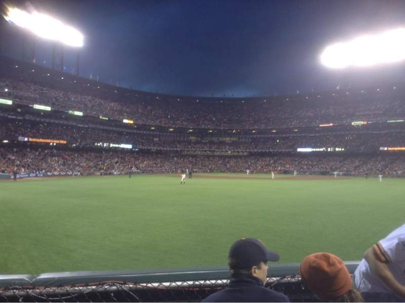 Seating view for AT&T Park Section 144 Row 1 Seat 6,7