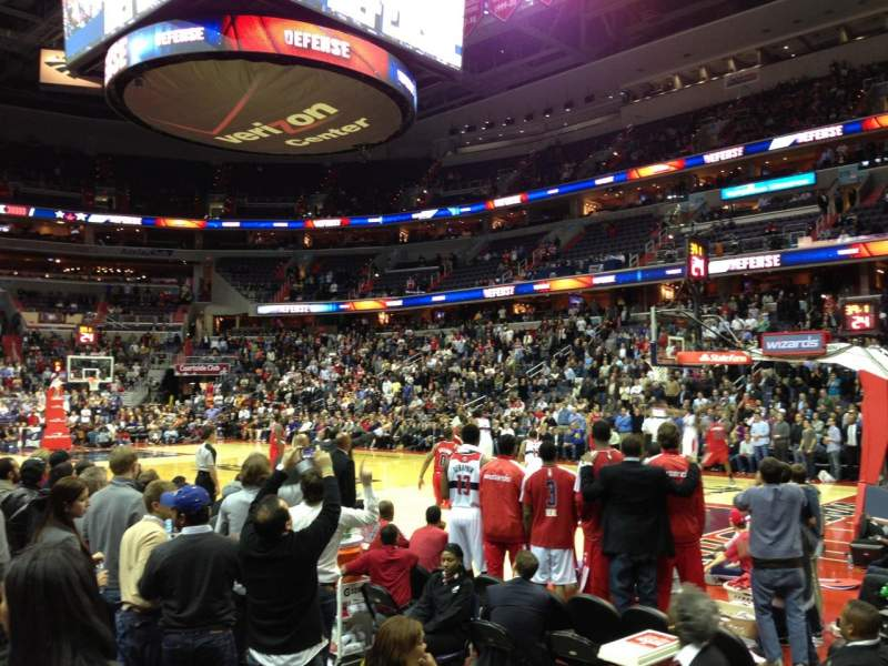 Seating view for Verizon Center Section 102 Row B Seat 5