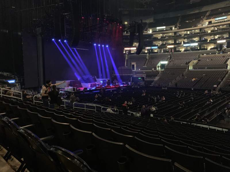 Seating view for Staples Center Section 111 Row 18 Seat 3