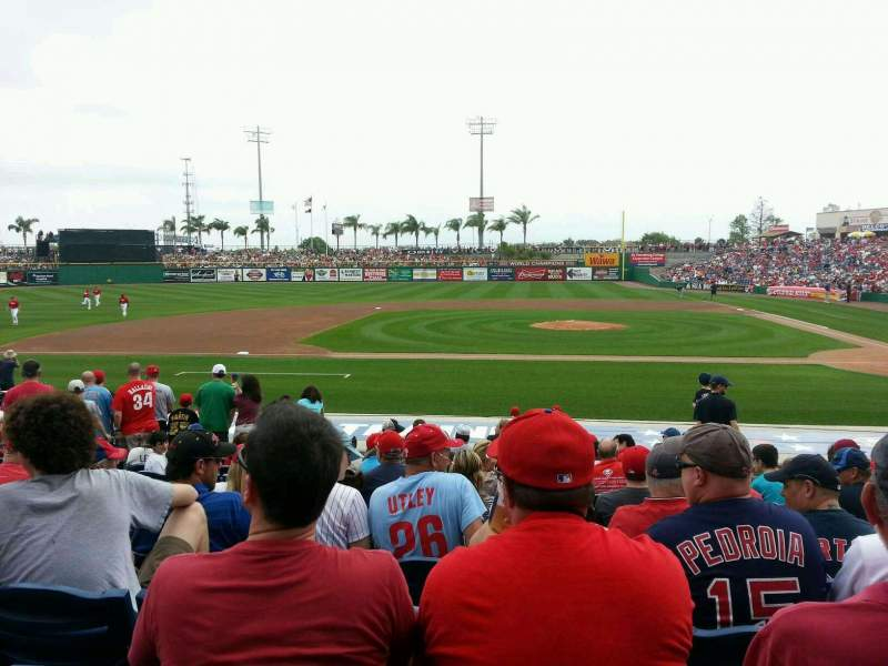 Seating view for BayCare Ballpark Section 115 Row 16 Seat 16