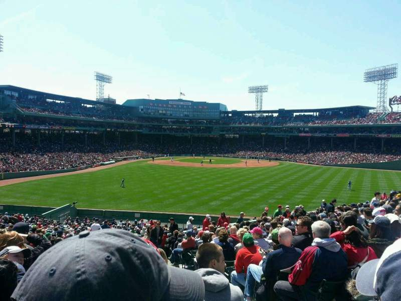 Seating view for Fenway Park Section Bleacher 39 Row 40 Seat 10