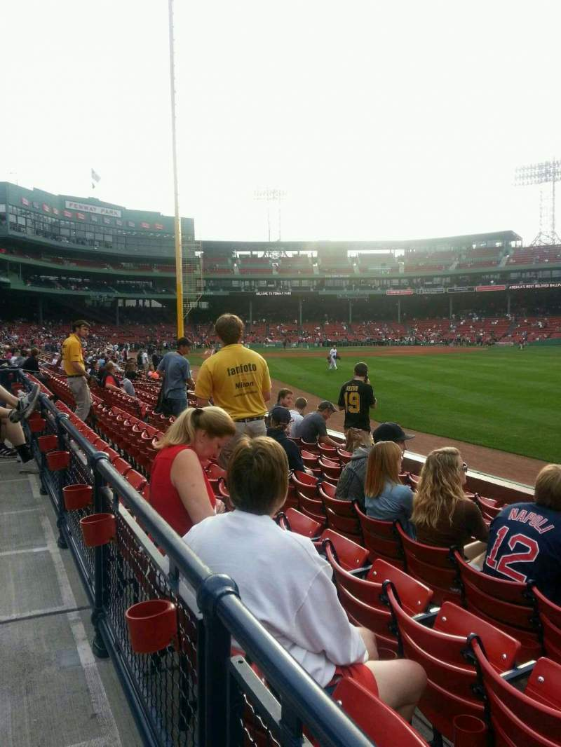 Seating view for Fenway Park Section Right Field Box 4 Row n Seat 4